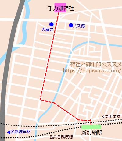 手力雄神社のマップ