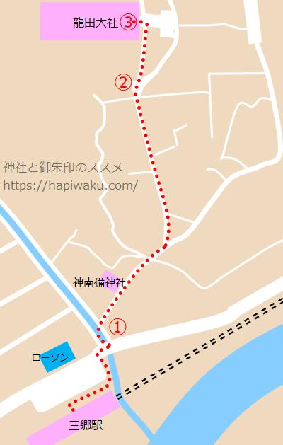 龍田大社のマップ