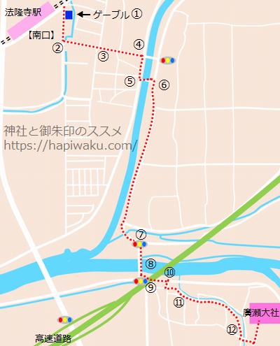 廣瀬大社の地図