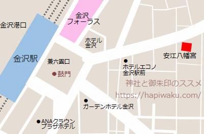 安江八幡宮のマップ