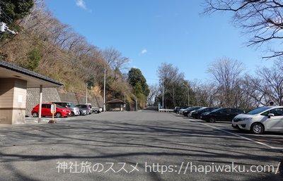 織姫神社の駐車場