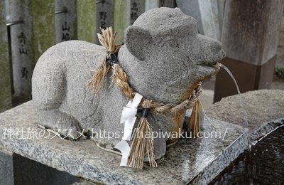 羊神社の手水舎