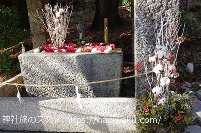 日吉大社の花手水