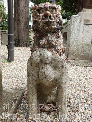 大須三輪神社の狛犬