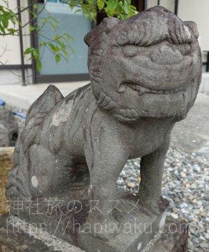薫的神社の狛犬