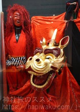 宇倍神社の獅子